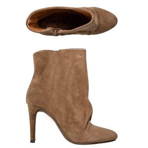 Free People Tan Suede Heel Booties New 36 US 6
